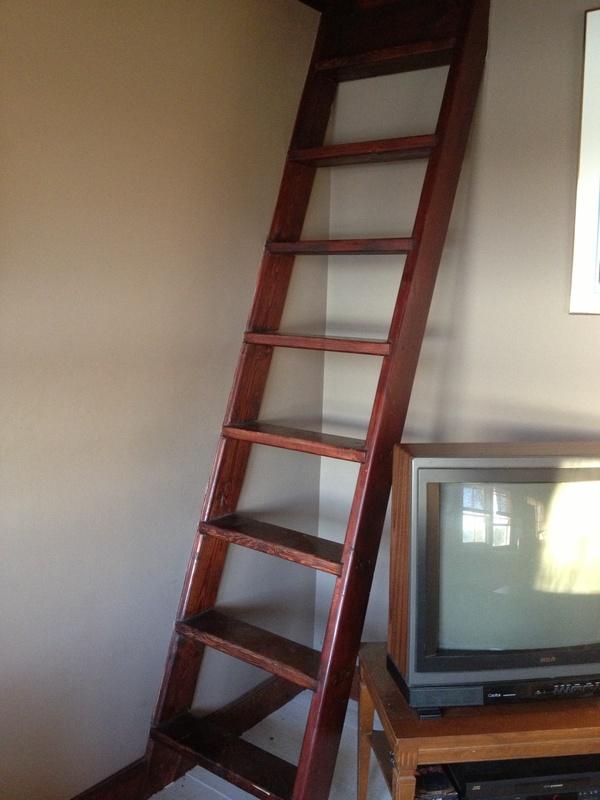 ladder to loft area